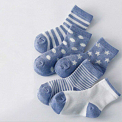 5 Pairs Lot Kids Cotton Ankle Socks Toddler Girl Summer Casual 0-12 1-3 4-6 7-10