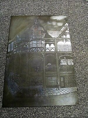 VINTAGE  10 x 15 ins  PRINTING PLATE DEPICTING WALTONS SHOP/STORE