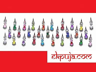Crystal Long Bindi Indian Bridal Fancy Bollywood Designer Self Adhesive 29 Bindi