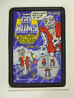 VINTAGE! 1986 Topps Wacky Packages Trading Card #45-Go Bums-Go Bots