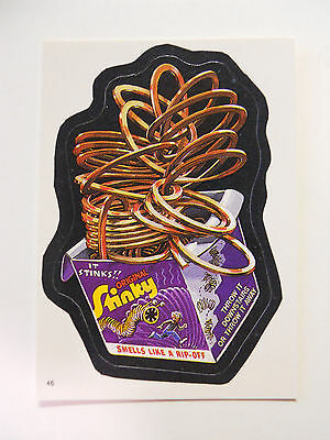 VINTAGE! 1986 Topps Wacky Packages Trading Card #46-Stinky-Slinky