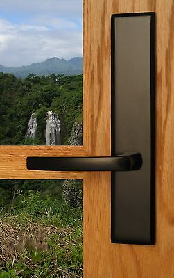 FPL Catalina Entry Door Lever Set and Back Plates with Deadbolt