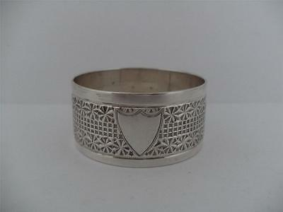 LOVELY SOLID SILVER NAPKIN RING Sheffield 1911