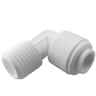 "Express Water 1/4"" Male Elbow Quick Connect Parts for Water Filters / RO Systems"
