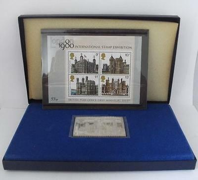 Commemorative Silver Ingot Stamp Tower Of London 900th Anniversary 1978