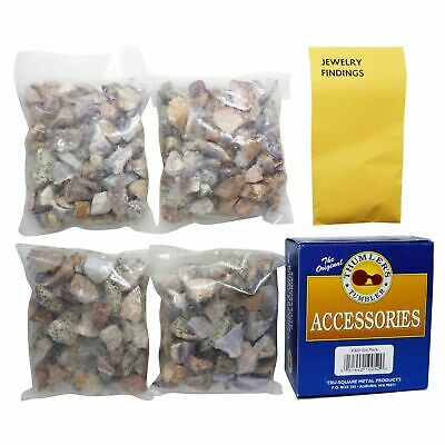 Thumlers Tumbler Jewelry Tumbling Refill Kit Includes Grit, Rocks and More