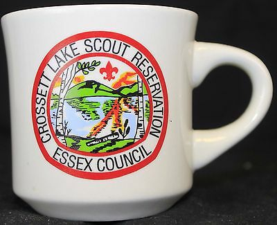 BSA Boy Scouts Coffee Mug Crossett Lake Scout Essex Council Reservation Camp