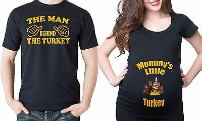 Thanksgiving Maternity T-shirt Set Pregnancy Tee dad Maternity T-shirt