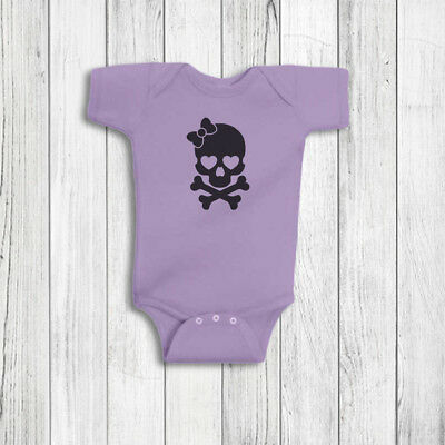 Skull Baby Girl Clothes - Peace Sign Romper, baby bodysuit, one piece, cute