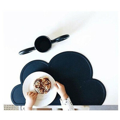 Silicone Cloud Shaped Baby Kids Plate Mat Table Mat Set Home Kitchen Pads
