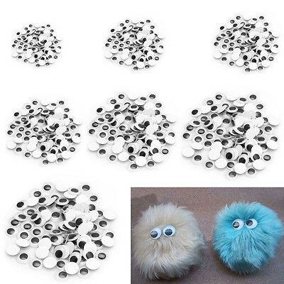 100PCS Wiggly Wobbly Googly Eyes Self-adhesive Scrapbooking Crafts