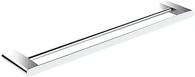 Bathroom Accessories Fittings - Double Towel Rail Bar 700 Square / Round Design