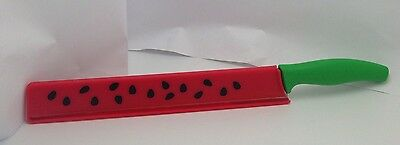 Watermelon Knife With Case Micro-serrated Stainless Steel Blade Plastic Cover