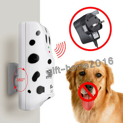 Ultra sonic No Bark Control Anti Deterrent Stop Dog Barking-Proof Silencers New