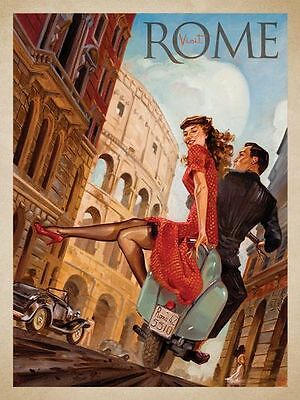"Vintage Retro Rome, Italy Travel Photo Fridge Magnet 2""x 3"" Collectibles"