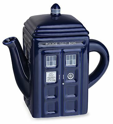 Doctor Who Tardis Ceramic Teapot Police Box Official Dr Who Kitchenware