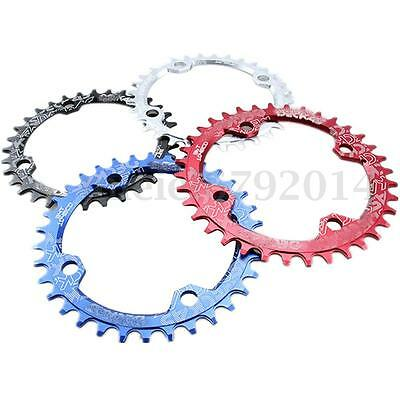 BMX Chain Ring Chainring Narrow Wide Single 104BCD 32T/34T/36T 9/10/11 Speed