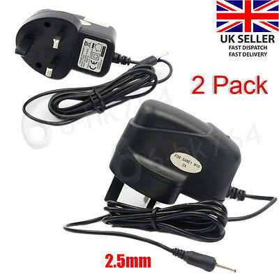 """2X 2A UK Mains AC Wall Adapter Power Supply Charger Android Tablet 7"""" 8 9"""" 10.1"""""""