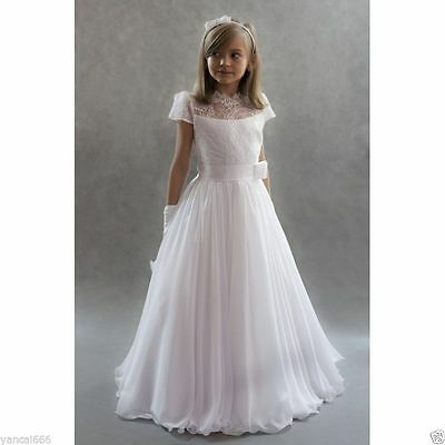 Communion Party Birthday Princess Pageant Bridesmaid Wedding Flower Girl Dress