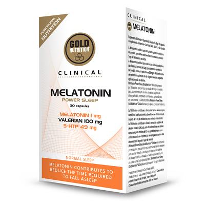 Clinical Melatonin Power Sleep 30 Cápsulas - Sueño | Descanso - Gold Nutrition