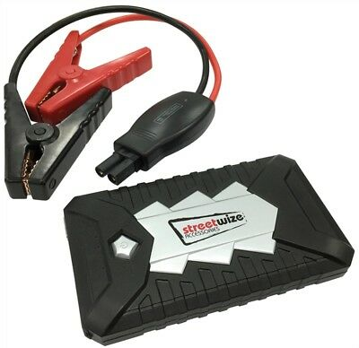 Streetwize Portable 12V Power Bank with Jump Starter Car 2L Petrol & 1.6L Diesel