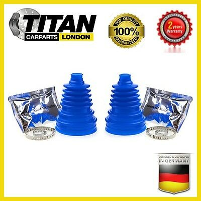 2x Universal CV Joint Boot Blue Silicone Kit Gaiter With Grease And Clamps New