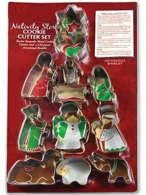 12-Piece NATIVITY CHRISTMAS COOKIE CUTTER Set, by Lighthouse Christian Products