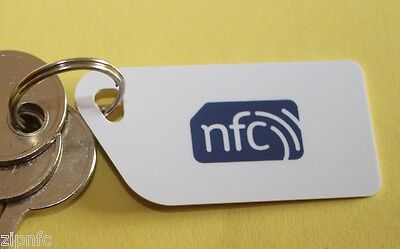 5  White NFC Tag Plastic Key Cards NXP NTAG213 Android Windows Samsung