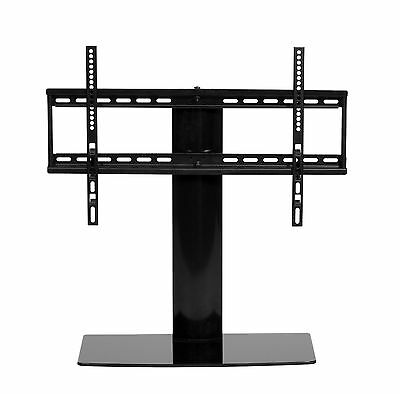 Premium black Table Top TV Stand 32 to 60 inch pedestal replacement for LCD LED