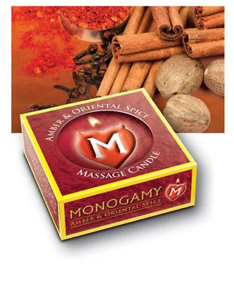 MONOGAMY MASSAGE CANDLE Romantic Gift Oil Amber & Oriental Spice