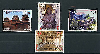 Nepal 2015 MNH Miscellaneous Series 4v Set Temples Buildings Narasimha Stamps