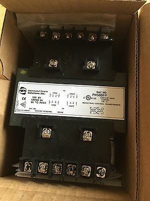 Hammond Industrial Control Transformer PH500PP 500VA 50/60HZ 80cRise Nos