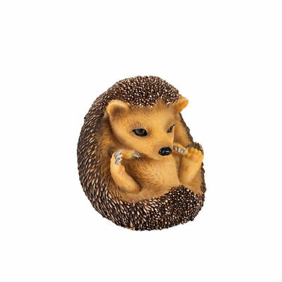Baby Hedgehog Sitting Up and Looking Forward Sculpture VERONESE Home Decor New