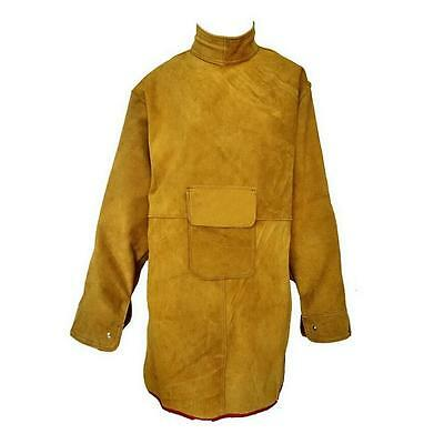 """47.2"""" L Leather Bib Welding Apron Heat insulation protection Safety Clothes  E"""