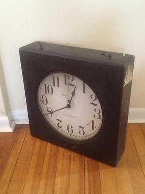 Antique 1920s WARREN TELECHRON Hotel Lobby/Railroad Clock Ashland Mass USA Works