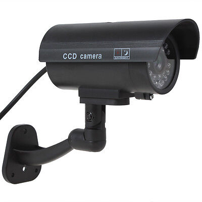 Outdoor Fake Dummy Security Camera with Wireless Blinking Falshing Red LED