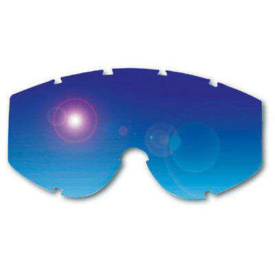 Progrip NEW Mx 3240 Flash Blue Tinted Replacement Mirrored Goggle Lens