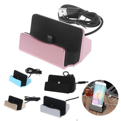 Desktop Desk Micro USB Sync Data Cradle Stand Charger Dock Station Cable Adapter