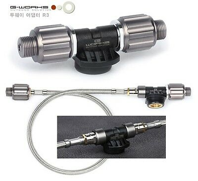 G-WORKS Two Way Gas Adapter of Various Lengths and Options