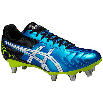 Asics Men's Lethal Tackle Rugby Boots Electric Blue Rugby Football Soccer Cleat