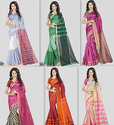 Chanderi Cotton Casual Saree  Superb Collection Bollywood Saree Indian Pakistani