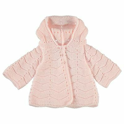 Babies Infants Soft Comfortable Hooded Front Open Warm Acrylic Croc Cardigan