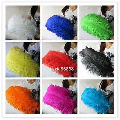 10-100 high quality natural ostrich feather wedding decoration 16-30inch/40-75cm