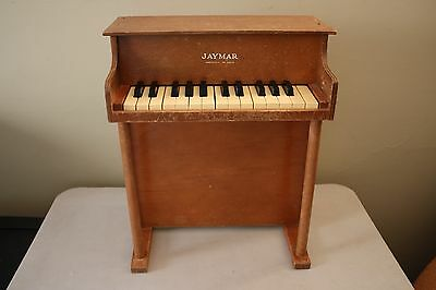 Vintage Jaymar Child Sized Small Miniature Wooden Piano