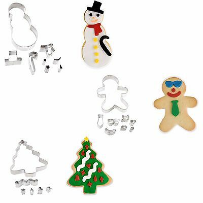 Gingerbread Man Christmas Tree Snowman Cookie Cutter Set Biscuit Pastry Gift