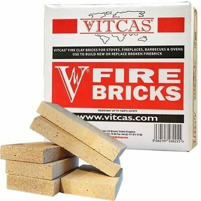 VITCAS Fire Bricks - Replacement for Stoves & Fireplaces - Pack of 6