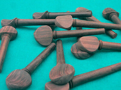 12 pcs natural Rosewood Oud pegs with polish 55/9/7mm swiss model