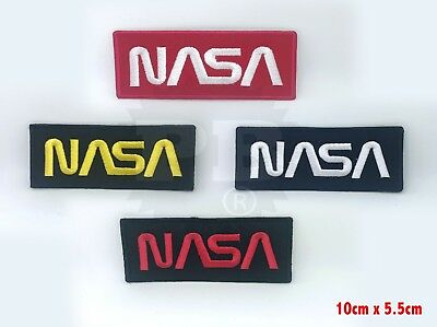 NASA Space Agency Embroidered Iron On Oblong Patch Badge multiColour