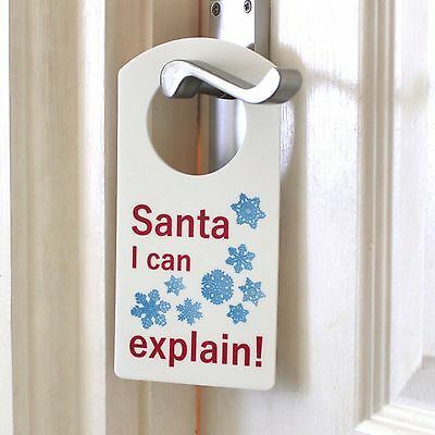 Santa I Can Explain Hanger Door Name Plaque Boy or Girls Bedroom Room Sign