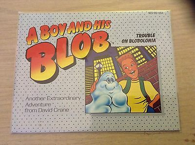 A Boy And Is Blob NES Nintendo Manual Instruction Booklet Trouble In Blobolonia